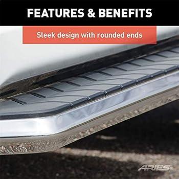 2 Pack 5 Black Powder-Coated Stainless Steel Trim Aluminum Base Aries 2061030 Aerotread Running Board