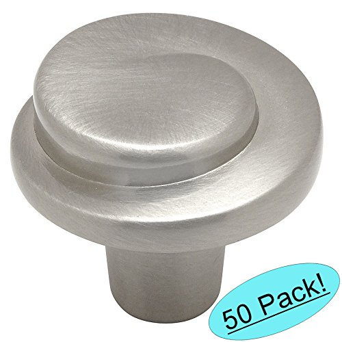 Cosmas 775SN Satin Nickel Cabinet Hardware Swirl Knob - 1-1/4