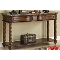 Homelegance Lockwood Sofa Table with Marble Top