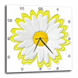 3dRose dpp_38798_2 Yellow and White Daisy-Wall Clock, 13 by 13-Inch Review