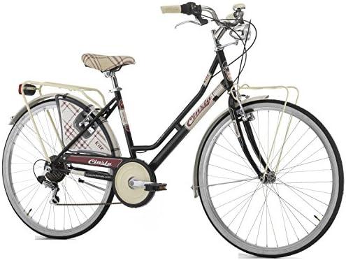 Bicicleta Cicli Cinzia para Mujer, Cuadro de Acero, 6 velocidades, 66 cm, Talla 44: Amazon.es: Electrónica