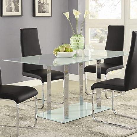 Amazon.com - Geneva Contemporary Glass Dining Table - Tables