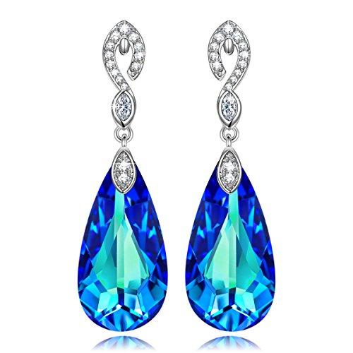 Blue Bermuda (Earrings Swarovski Crystals Jewelry Gifts for Women Girls Her KATE LYNN