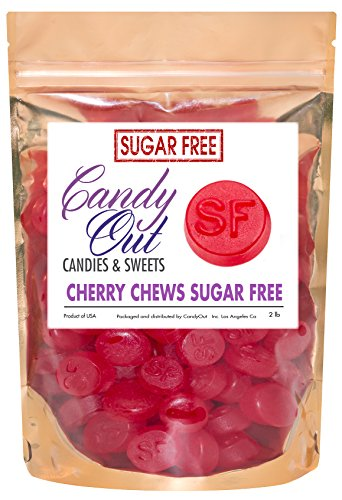 CandyOut Gimbal's Sugar Free Cherry Chews 2 Pound in CandyOut Resealable Bag