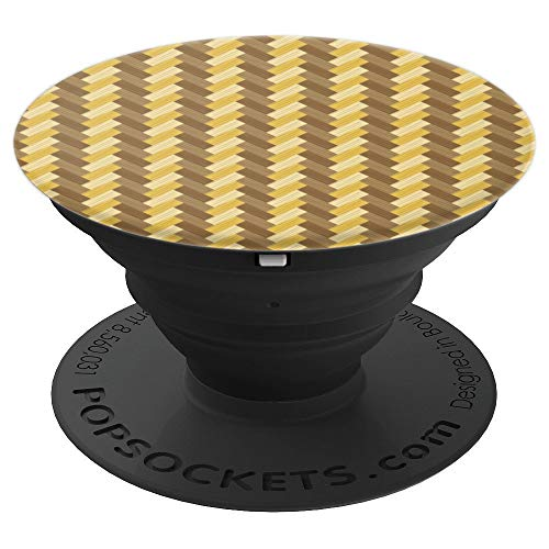 (Yellow Herringbone Wood Flooring Pattern - PopSockets Grip and Stand for Phones and Tablets)