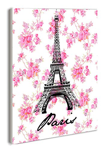 The Stupell Home Decor Collection lulusimonSTUDIO Eiffel Tower Rectangle Wall Plaque