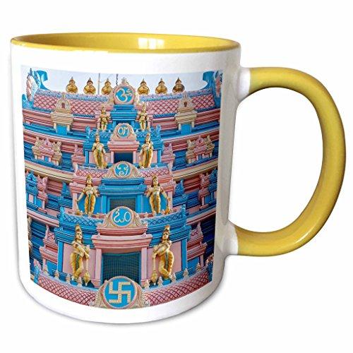 3dRose Danita Delimont - Ali Kabas - Temples - Temple at Sai Baba ashram - 15oz Two-Tone Yellow Mug (mug_187110_13) (Sai Baba Best Pics)