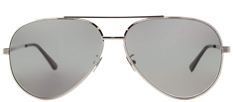 5e35f5feede Amazon.com  Saint Laurent CLASSIC 11 ZERO- 001 SILVER   GREY   SILVER  Sunglasses  Clothing