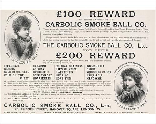 Photographic Print Of Carbolic Smoke Ball/1893