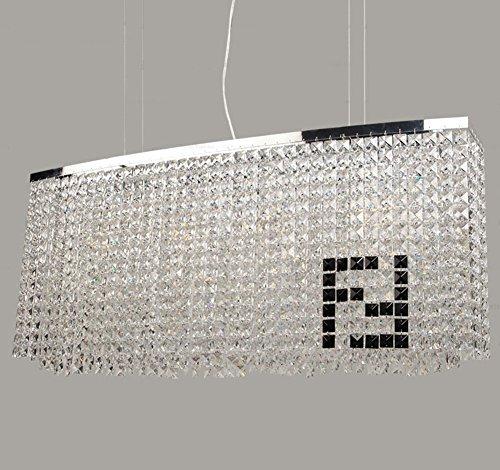 Siljoy Modern Crystal Chandelier Dining Room Rectangular Chandeliers  Lighting Island Pendant Lamp, ...