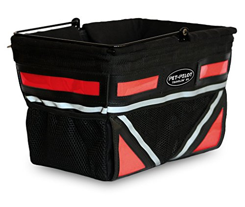 TRAVELIN K9 Pet-Pilot Original Dog Bike Basket Carrier | 10 Color Options for Your Bicycle (Cherry Red)