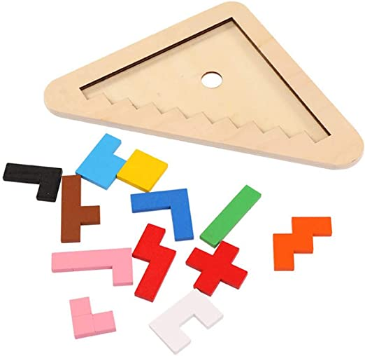 YSY Rompecabezas de Madera Tetris Puzzle niños desafío del Cerebro, Rompecabezas de Madera Caja Juego de Rompecabezas de Madera Tangram Juguetes Regalos Nuevo Embalaje: Amazon.es: Hogar