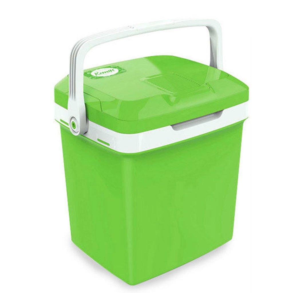 ポータブルカー冷蔵庫ミニ冷却暖房ミュート家庭用小型冷蔵庫トラベルピクニック、26L,Green  Green B07DVH7JMD
