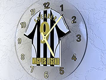 d29e61455 Image Unavailable. Image not available for. Colour  ALAN SHEARER -  NEWCASTLE UNITED FC FOOTBALL SHIRT CLOCK - FOOTBALL LEGENDS LIMITED EDITION