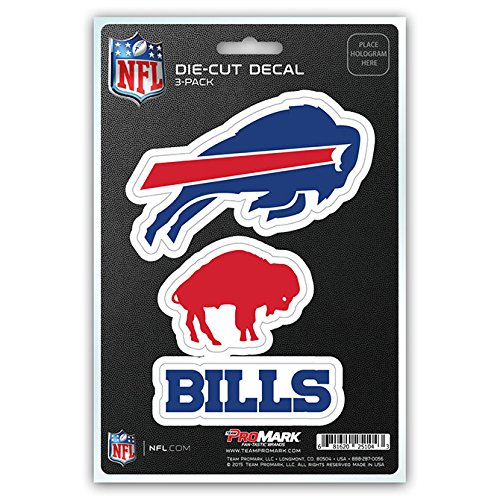 NFL Buffalo Bills Team Decal, 3-Pack