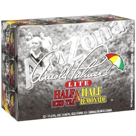 Arizona Arnold Palmer Lite Half & Half Iced Tea/lemonade, 11.5 Oz, 12ct (Pack of 4) ()