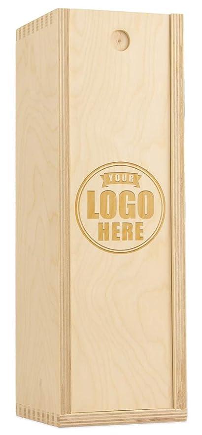 Amazon Com Custom Engraved Wood Wine Box With Corporate Logo