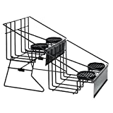 HUBERT Quadruple Black Wire Airpot Rack With Drip Trays