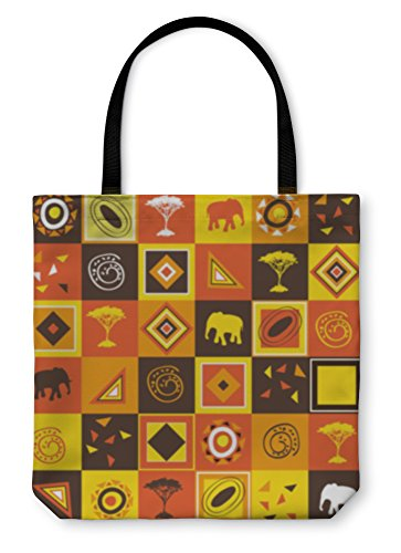 Gear New Shoulder Tote Hand Bag, African, 18x18, 822205GN by Gear New