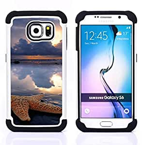 For Samsung Galaxy S6 G9200 - clouds sun rain sea nature Dual Layer caso de Shell HUELGA Impacto pata de cabra con im??genes gr??ficas Steam - Funny Shop -