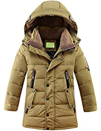 Big Boy's Hooded Bubble Jacket Heavyweight Solid Puffer Coat