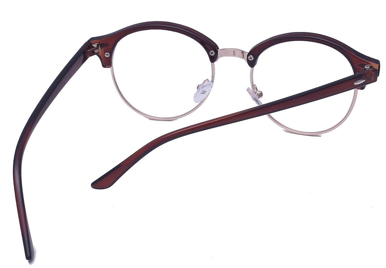 ALWAYSUV Modische Brillen licht Gewicht Clear Lens Glasses Dekobrillen Braun K74O5nl74E