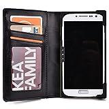 KroO Black Unisex BiFold Wallet for Huawei Ascend G6, P1 P1s, P6 P6s Smartphone