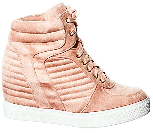 Pl Lace up Blush Wedge Top shoewhatever Fashion Women's Hi Sneakers 5gxnqUAB