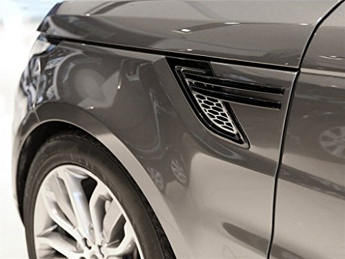 ABS Side Door Fender Air Vent Outlet Trim For Land Rover Range Rover Sport 2014 2015 2016 2017 (Piano black)