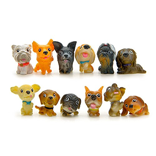 ZevenMart 12pcs/lot Different Kinds Of Dogs DIY Action Figure Toy Baby Room Decoration Kids Birthday Gifts