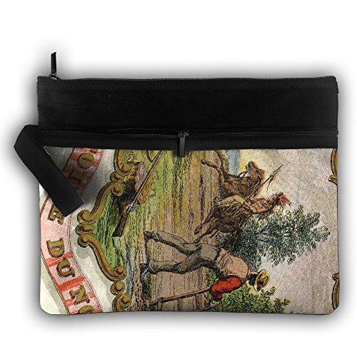 Cosmetic Bag Minnesota State Coat Of Arms Double Layers Zipper Cosmetic Bag Purse Travel Handbag by OLWCXB