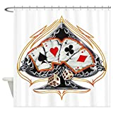 Shower Curtain Four of a Kind Poker Spade