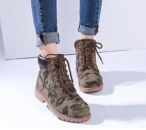botas casuales aire e mujer al botas de Camo Oto botas libre Martin o invierno tRwFqCTz