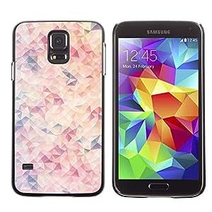 Be Good Phone Accessory // Dura Cáscara cubierta Protectora Caso Carcasa Funda de Protección para Samsung Galaxy S5 SM-G900 // Pattern Blue Peach Pink
