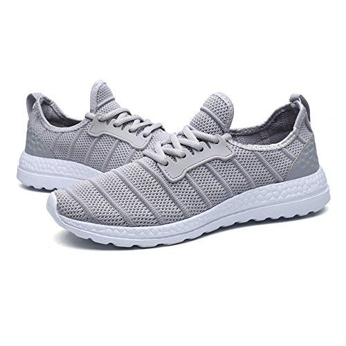 Un Autre Été Unisexe Maille Respirante Sport Chaussures De Sport Gris