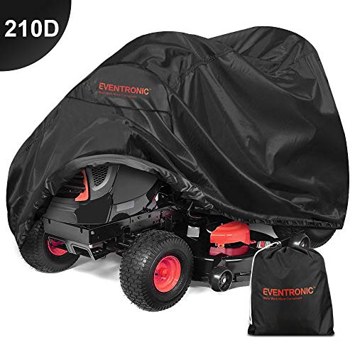 (Eventronic Riding Lawn Mower Cover, Riding Lawn Tractor Cover 210D Waterproof Heavy Duty Durable (L71 xW47 xH43))