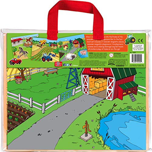 Bendon TS Shure Farm Wooden Magnetic Playboard with 27-Pieces, 3 Scenes and...