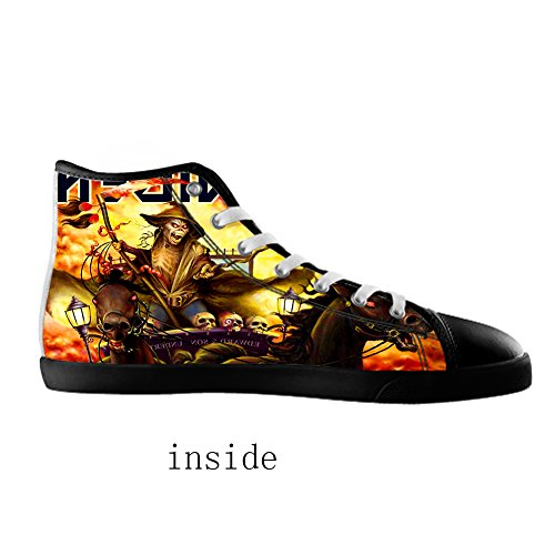 Men's High Shoes Top Men For Band Black4 Canvas Style Rock RqTwrxfR