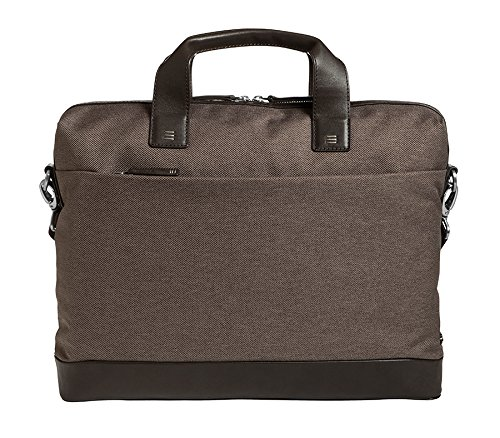 Brenthaven Medina 15.4-inch Laptop Slim Brief | Genuine Napa Leather Trim, Paded Pockets, Individual Tracking Number | Laptops, Chromebooks, iPads, Macbooks by Brenthaven (Image #1)