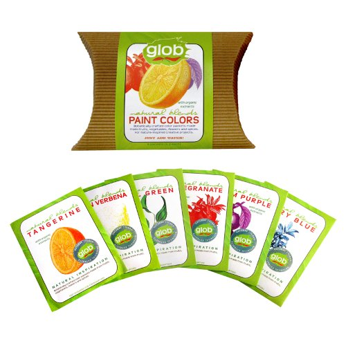 Glob All Natural Paint Pigment Packets, Set of 6 Colors