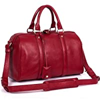 Kattee Celebrity Lady Real Soft Cow Leather Boston Shoulder Tote Bag