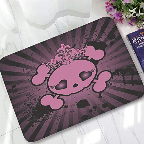(YOLIYANA Bath Mat,Skull,for Dining Room Bathroom Office,15.75