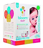 #5: bloom BABY Sensitive Skin Unscented Hypoallergenic Baby Wipes, 640-Count