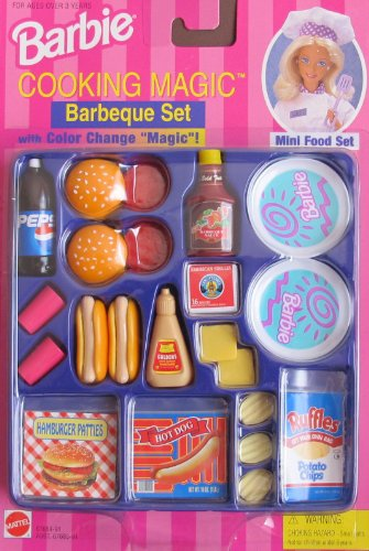 Barbie Toy Food : Barbie cooking magic barbeque set barbecue mini food