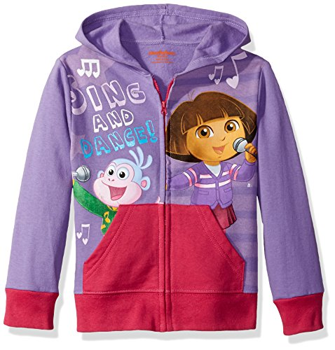 Nickelodeon Little Girls' Dora Pullover Hoodie, Lavender, 6X