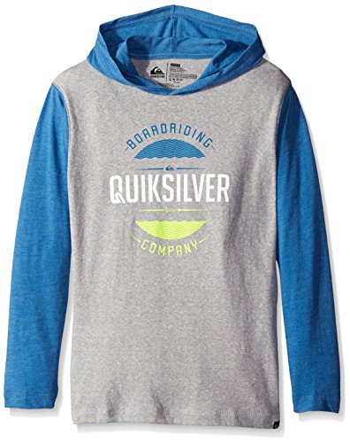 Quiksilver Boys Hoodie (Quiksilver Big Boys' Super DOOPER Hoodie, Grey Heather, Medium)