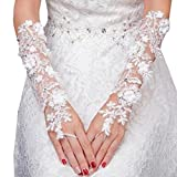 Elegant Lady Formal Banquet Party Bride Pierced Lace Wedding Gloves Bridal Gloves, NO.29