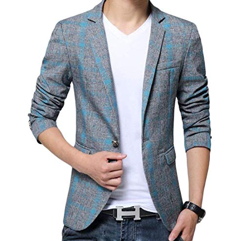 Blazer Élégant Blau Loisirs Business Cut 1 Veste Mode Marque Homme Casual En Slim Bolawoo Bouton d6w1qOd
