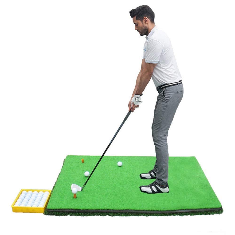 ゴルフ練習用ボールパッドスイング練習用両面スイング練習用ボールパッド練習場 1*1.2m Green B07MQRSRSN