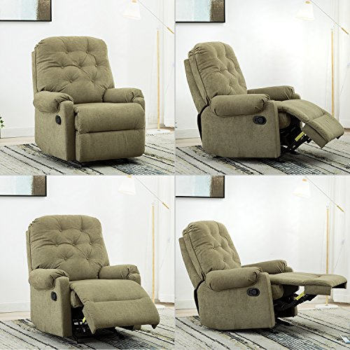 BONZY Glider Recliner Tufted Overstuffed Chair with Easy Gliding Track - Sage